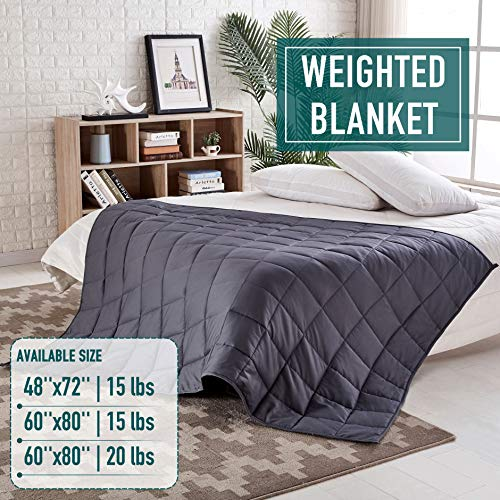 Cheap Weighted Blanket 15 lbs 60 x80 Weighted Blanket Weighted Blanket Adult Weighted Blanket Heavy Blanket Weighted Blanket for Adults Weighted Blankets Weighted Blanket 15lbs 60 x80 Black Friday & Cyber Monday 2019