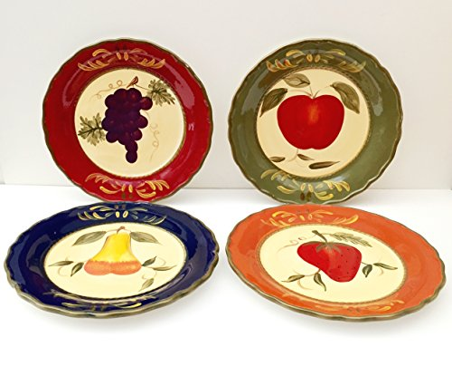 Tuscany Garden Colorful Hand Painted Mixed Fruit Ceramic 10