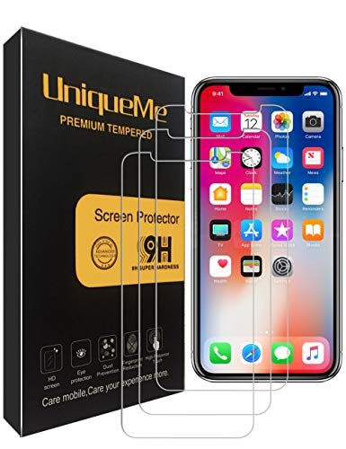 [3 Pack] INGLE Compatible with iPhone Xs/iPhone X Screen Protector,[ Japan Tempered Glass ] with Lifetime Replacement Warranty