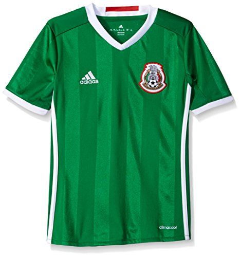 adidas Boys' Soccer Youth Mexico Jersey, Green/Poppy, Medium Adidas Youth Football Jerseys