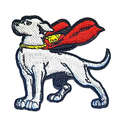 Application Classic DC Comics Krypto The Super Dog Cosplay Badge Embroidered Iron or Sewn-On Applique Patch