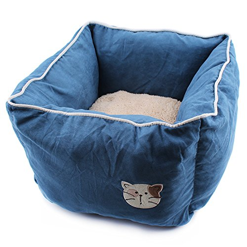 Da.Wa Deep Sleeing Cotton Cat Bed Square Sofa Bed Nest Pet Cat for Pet - Wa Square