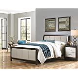 Monterey Complete Bed with Wood Panels and Mouse Upholstery, Espresso Finish, California King