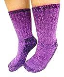 Purple Survival Alpaca Socks: Warm, soft, durable, thermal winter socks