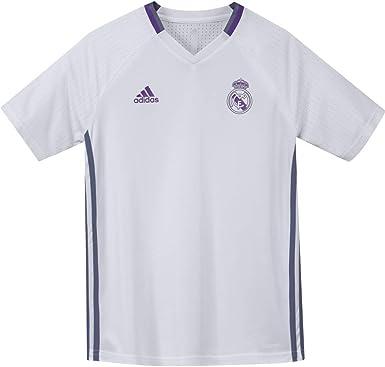 adidas Real Madrid CF TRG JSY Y Camiseta, Niños: Amazon.es: Deportes y aire libre