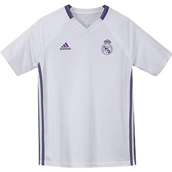 Adidas CF TRG JSY Y Camiseta, Niños, Blanco/Morado, 15-16