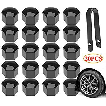 Remover Tool Mtsooning 20Pcs Red Car Styling Wheel Nut Protection Auto Hub Screw Bolt Head Cover Tire Protector 19mm Plastic