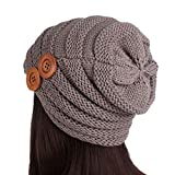 GOVOW Clearance Sale!Pile Caps Women Ladies Winter Knitting Hat Turban Brim Hat