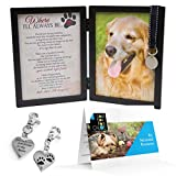 Grandparent Gifts Pet Memorial Picture Frame Where Ill Always Be Dog Frame with Pet Tag, Pet Memorial Clip on Charm and Bonus Pet Memorial Resource Guide