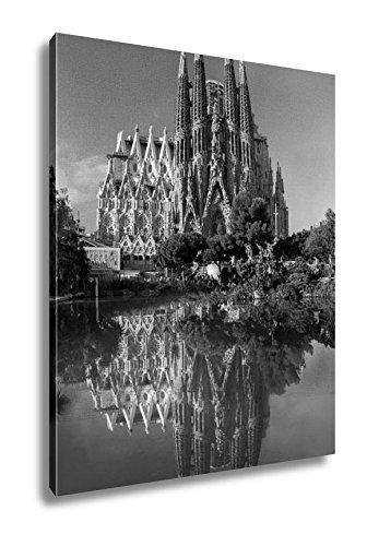 Ashley Canvas Barcelona Spain October 8 La Sagrada Familia Cathedral, Wall Art Home Decor, Ready to Hang, Black/White, 20x16, AG5410117 by Ashley Canvas