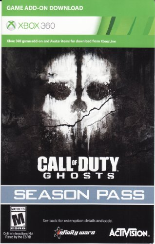 Call of Duty Ghosts Season Pass DLC Code Card - Xbox 360 (Call Of Duty Ghost Camo Code Xbox 360)