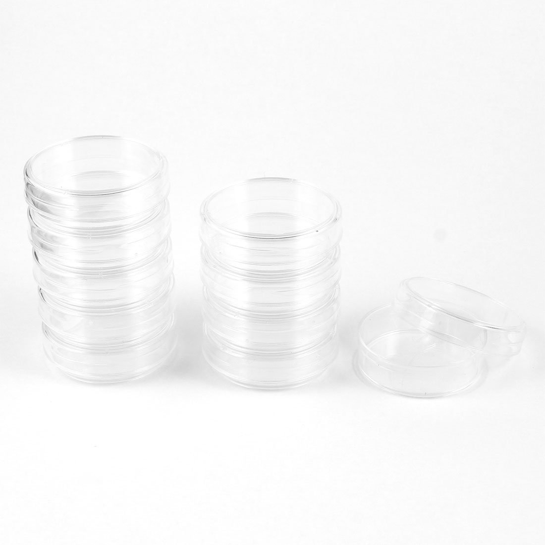 Sourcingmap Chemical Experiment 38mm Dia Rounded Shape Cell Culture Dish Clear 10 Pcs