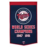 Minnesota Twins World Series Championship Dynasty Banner - with hanging rod