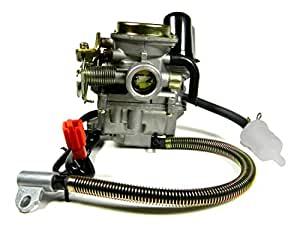 Carburetor for 4-stroke GY6 139QMB 50CC Scooters/Mopeds/Go Karts increases the horsepower and airflow for your bikes