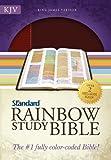 KJV Standard Rainbow Study Bible, Brown/Chestnut LeatherTouch
