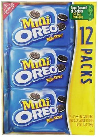 Oreo Multi Pack Mini Cookies 12 oz (Bite Size Oreos)