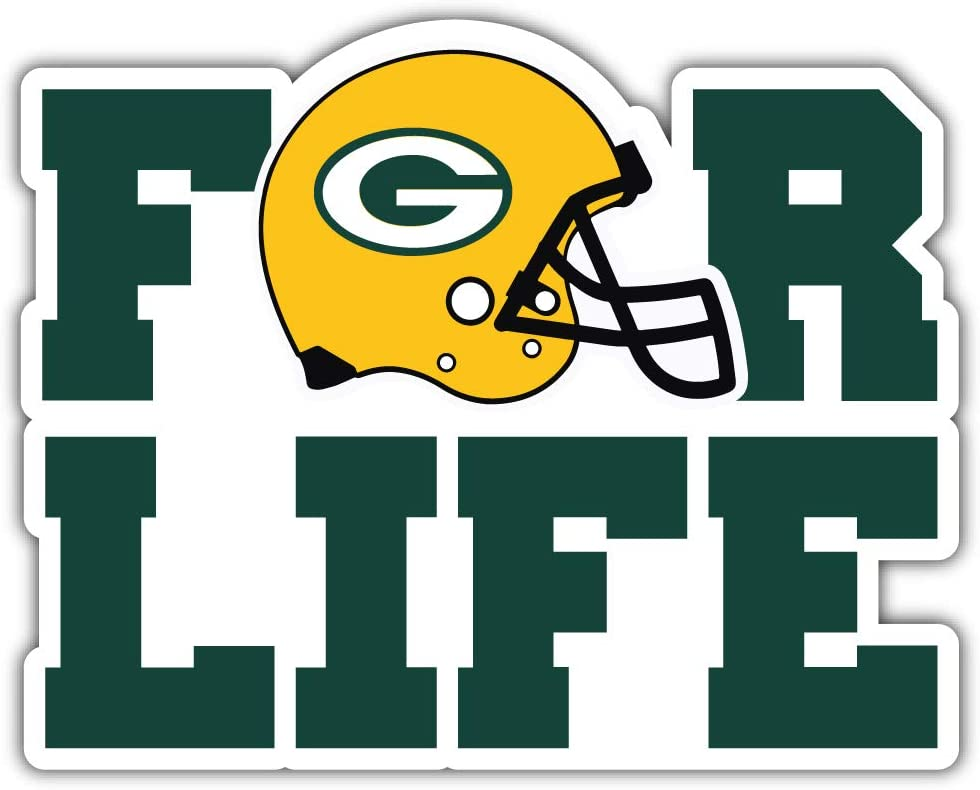 qualityprint Green Bay Packers for Life NFL Sport Decor Bumper Vinyl Sticker 14 X 11