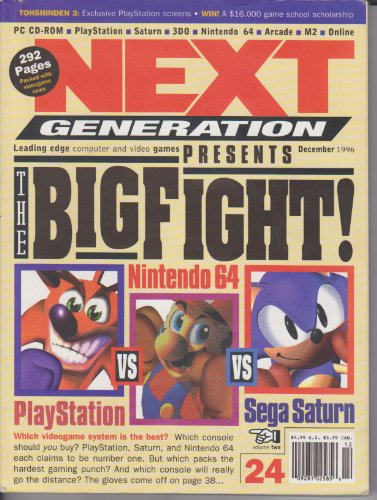 Next Generation Leading Edge Computer and Video Games (The Big Fight! Playstation vs. Nintendo 64 vs. Sega Saturn, Volume 2, Number 24, December 1996)