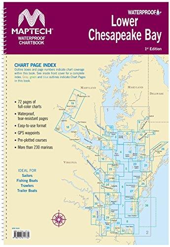 Maptech Lower Chesapeake Bay Waterproof Chartbook 1st - Bay Chesapeake Upper