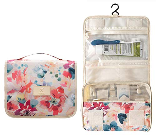 Toiletry Travel Organizer Hanging Cosmetic Bag (Bright 1)