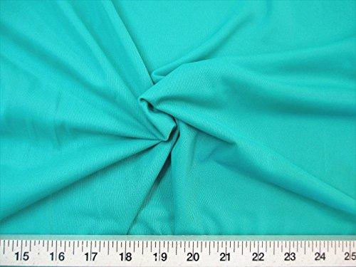 Yard Fabric Nylon 40 Denier Tricot Stretch Dark Mint 108 inch Wide TR03