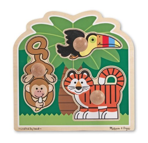 Melissa & Doug Rainforest Friends Jumbo Knob Puzzle