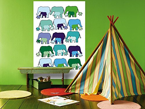 Elephant Pattern Wall Mural by Avalisa 48 x 72in Avalisa Pattern