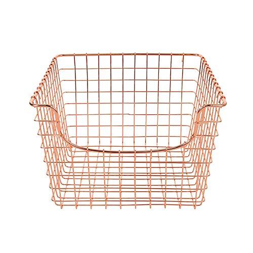 Spectrum Diversified Scoop wire Storage Basket, Medium, Copper (Hanging Copper Baskets)