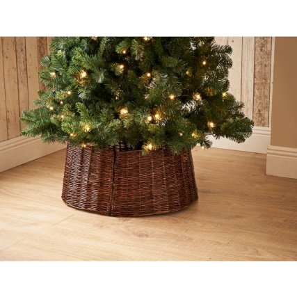 Wicker Christmas Tree Skirt - Dark - Wicker Christmas Tree Skirt - Dark: Amazon.co.uk: Kitchen & Home