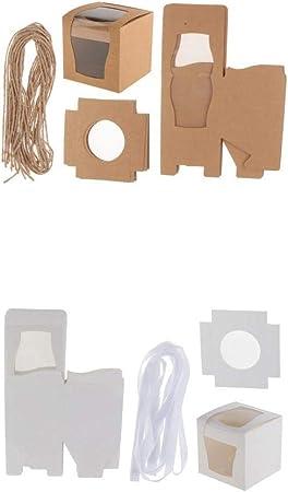 Fenteer 24stk. Caja para Tarta Cupcake cartón Caja Muffin cartón ...