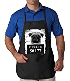 Mug Shot Pug Life Funny APRON, Black, Large