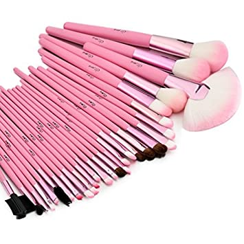 bc4e98010256 Glow Makeup Brushes Set in Case, Pink - 30 Piece