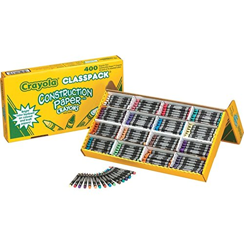 Crayola 52-1617 Class Pack Crayola Construction Paper Crayons, 25 ea. of 16 Colors, 400/Set by Crayola (Image #4)