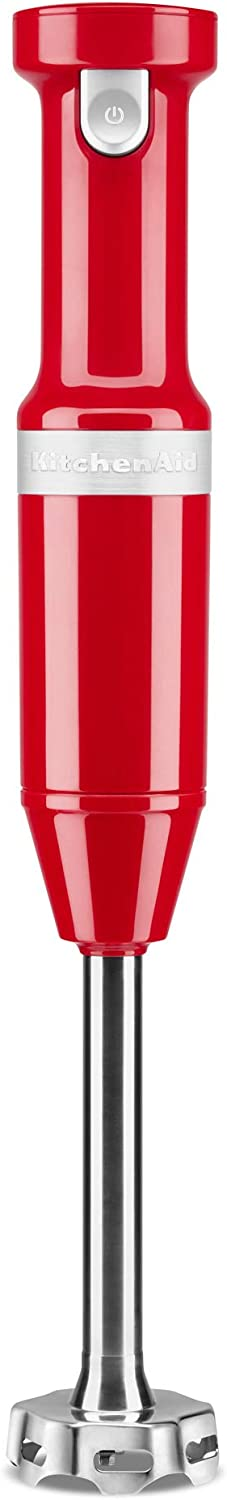 KitchenAid KHBBV53PA Cordless Hand Blender, 8 inch, Passion Red