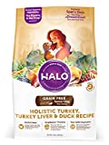 Halo Grain Free Natural Dry Dog Food, Senior Turkey, Turkey Liver & Duck Recipe, 10-Pound Bag