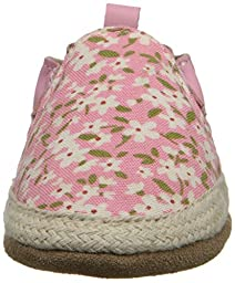 Robeez Floral Mania Soft Sole Crib Shoe (Infant), Light Pink, 0-6 Months M US