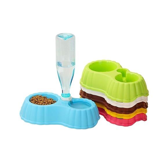 Pet Water Bottle-GHJ Botella de Agua para Mascotas, Plato dispensador de dispensador automático de 350 ML (Color : #2, Tamaño : L): Amazon.es: Productos ...