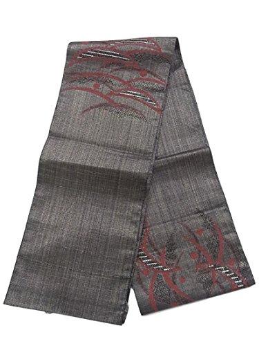 反対する桃土地リサイクル 名古屋帯 八寸 組織り風 露芝文 正絹