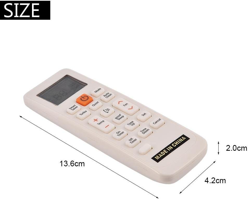 Telecomando di Ricambio per condizionatore dAria Compatibile con Samsung DB93-11489L DB63-02827A qiulip