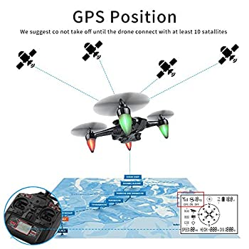 RC Drone with Professional FPV Brushless Drone Camera 1080P Follow me Long Range Drone with 5G WiFi and GPS
