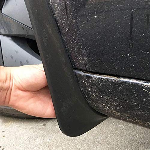 Black Fender Cover with Fixing Screw Foonee 4 Pcs Tesla Model 3 Mud Splash Guards Strong Toughness Plastic Mud Flaps for Front and Rear Wheels