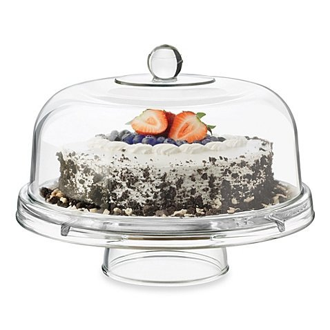 DailywareTM Glass 6-in-1 Footed Multifunctional Cake Dome by Dailyware