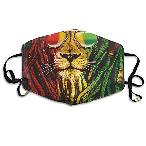 Bennett11 Outdoor Reggae Rasta Flag Lion Fall Breathing Mask Anti-Pollution Outdoor Activities Mouth Face Masks