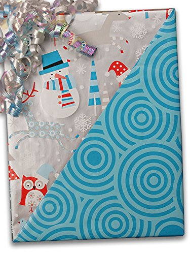 24'' X 100' #x6339 Snowplay (Rever) - Gift Wrap Christmas by Paper Mart