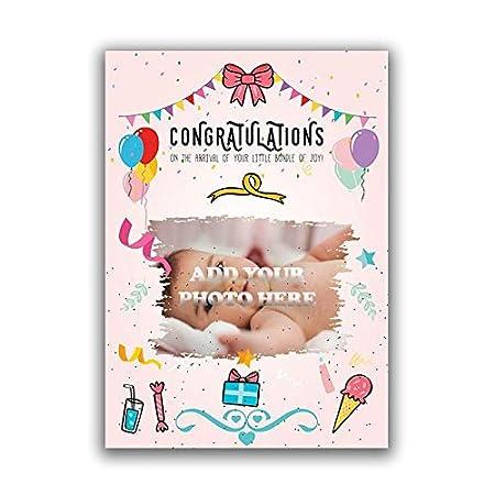 Tarjeta personalizada para recién nacido, carga tu propia ...