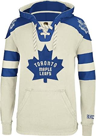 timeless design cd8e6 53437 Toronto Maple Leafs CCM Vintage NHL Classic Fleece Pullover ...