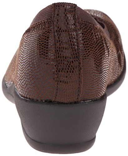 Brown Flat Women's Soft Rogan Hush Dark Puppies Lizard by Style xw66q78Y