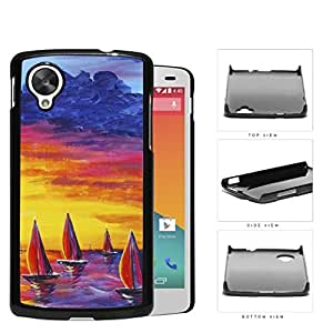 Sailboats Floating In The Sea Watercolor Painting [Nexus 5] Hard Snap on Plastic Cell Phone Cover