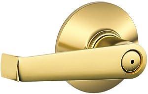 Schlage F40ELA605 Elan Privacy Lever, Bright Brass