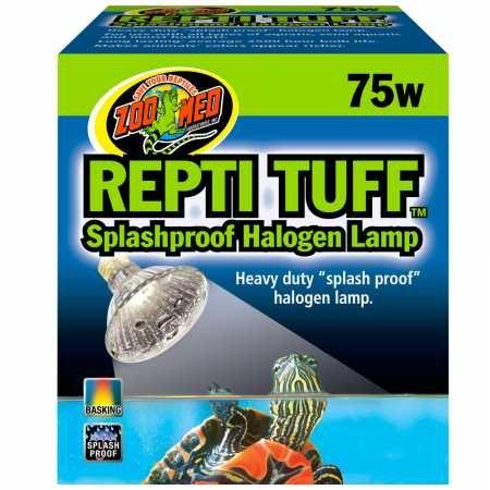 Zoo Med Turtle Tuff Splash - Zoo Med Repti Tuff Halogen Lamp (75 watt)